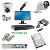 HIK VISION CCTV Package 12 with 4 Pcs 2Mega Pixel HD1080P Camera 1 DVR 1Monitor